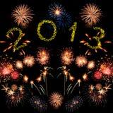 Nieuw jaarvuurwerk Stock Foto