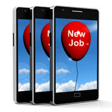Nieuw Job Balloon Shows New Beginnings in Carrières royalty-vrije illustratie