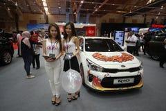 Nieuw Kia RIO toont bij de auto van Maleisië van 2017 autoshow Royalty-vrije Stock Foto