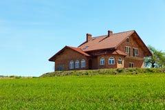 Nieuw landelijk huis Royalty-vrije Stock Foto's