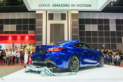 Nieuw Lexus rc-F in Singapore Motorshow 2015 Stock Foto