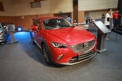 Nieuw Mazda CX-3 toont bij de auto van Maleisië van 2017 autoshow Stock Afbeelding