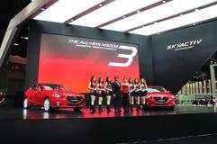 Nieuw Mazda 3 op vertoning Stock Afbeelding