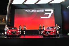 Nieuw Mazda 3 op vertoning Stock Foto