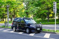Nieuw model van Japanse Taxi voor de comimg Olympische spelen 2020 Stock Foto's
