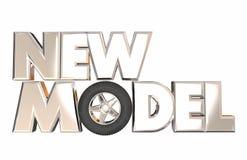 Nieuw Modelvehicle car design onthult Wiel Vector Illustratie