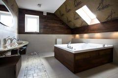 Nieuw modern badkamersbinnenland Royalty-vrije Stock Afbeeldingen