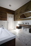 Nieuw modern badkamersbinnenland stock fotografie
