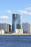 Nieuw modern commercieel centrum, St. Petersburg Stock Foto