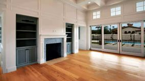 Nieuw Modern Huisbouw het Leven Gebied stock video
