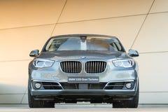 Nieuw modern model van de familieklasse van BMW 535i Gran Turismo liftback Stock Afbeelding