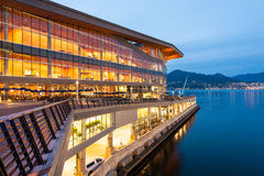 Nieuw, modern Vancouver Convention Center bij dageraad Royalty-vrije Stock Fotografie