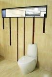 Nieuw Modieus toilet Stock Foto