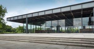 Nieuw National Gallery in Berlijn, Duitsland Stock Fotografie