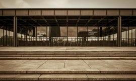 Nieuw National Gallery in Berlijn, Duitsland Stock Afbeelding