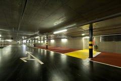Nieuw ondergronds parkeren Royalty-vrije Stock Foto's