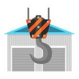 Nieuw pakhuis vlak pictogram Stock Fotografie