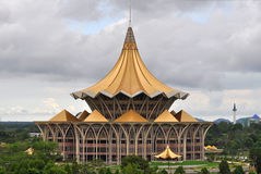 Nieuw Parlementsgebouw in Kuching Stock Foto