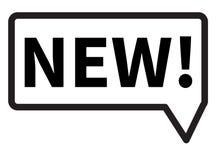 Nieuw pictogram op witte achtergrond Nieuw teken Vlakke stijl nieuw pictogram des Royalty-vrije Stock Foto