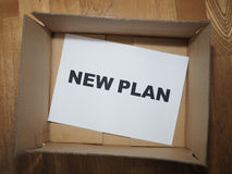 Nieuw planconcept Royalty-vrije Stock Afbeelding