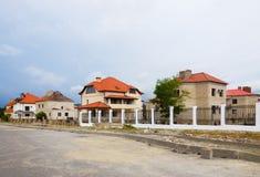 Nieuw plattelandshuisjedorp Stock Foto's