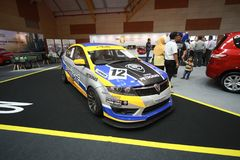 Nieuw Proton Preve toont bij de auto van Maleisië van 2017 autoshow Royalty-vrije Stock Afbeelding