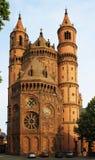 Nieuw-Romaanse Kathedraal in Wormen Royalty-vrije Stock Foto's