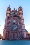 Nieuw-Romaanse Kathedraal in Wormen, Wormser-Dom Stock Foto's