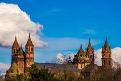 Nieuw-Romaanse Kathedraal in Wormen, Wormser-Dom Royalty-vrije Stock Foto's