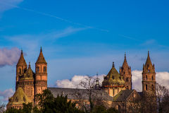 Nieuw-Romaanse Kathedraal in Wormen, Wormser-Dom Royalty-vrije Stock Afbeelding