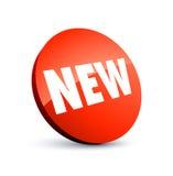 Nieuw rood etiket Stock Afbeeldingen