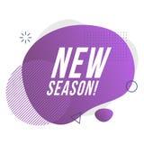 Nieuw seizoenpictogram Vector illustratie stock illustratie