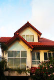 Nieuw semi losgemaakt huis Stock Fotografie