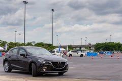 Nieuw skyactive Mazda 3 Stock Foto