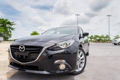 Nieuw skyactive Mazda 3 Stock Fotografie