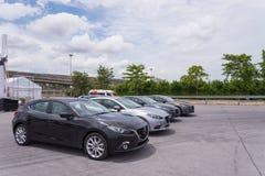 Nieuw skyactive Mazda 3 Royalty-vrije Stock Foto's