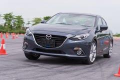 Nieuw skyactive Mazda 3 Stock Foto's
