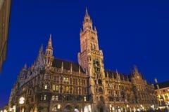 Nieuw stadhuis in München Stock Fotografie