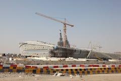Nieuw stadion in Doha, Qatar Stock Afbeeldingen