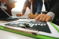 Nieuw startproject en Op de markt brengend team royalty-vrije stock afbeeldingen
