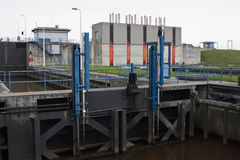Nieuw Statenzijl locks, the Netherlands Stock Photo
