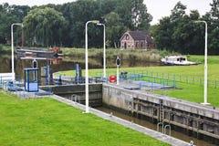 Nieuw Statenzijl sash lock, the Netherlands Stock Photos