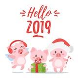 2019 Nieuw stem vóór, de kaart van de Kerstmisgroet vector illustratie