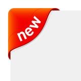 Nieuw teken. Vector. Royalty-vrije Stock Foto