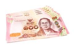 Nieuw Thais die rekenings honderd Baht van 2017 op witte achtergrond wordt geïsoleerd Royalty-vrije Stock Afbeeldingen