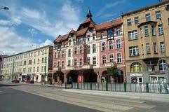 Nieuw Theater op Dabrowskiego-straat in Poznan, Polen Stock Afbeelding