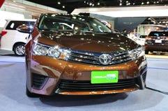 Nieuw Toyota Altis CNG op vertoning bij 35 Royalty-vrije Stock Afbeelding