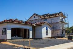Nieuw Twee Verhaalhuis in aanbouw Royalty-vrije Stock Afbeelding