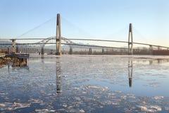 Nieuw Westminster, Fraser River Ice royalty-vrije stock foto