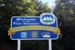 Nieuw wit de berg welkom teken van de hempshirestaat Stock Afbeelding
